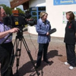 Jenni being interviewed by Border TV